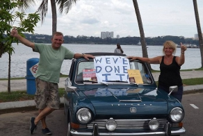 17,000 miles in classic Triumph bought for £500 on eBay