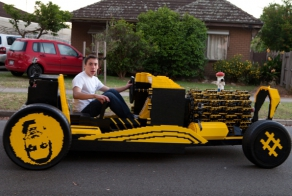 Full-size Lego car actually drives