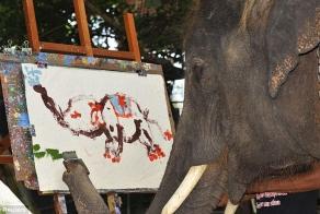 An impressionist elephant
