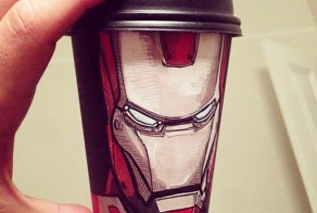 Unusual drawings on coffee cups