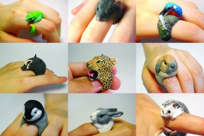 Animal Cling Rings By Jiro Miura