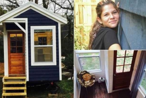 Girl, 14, builds herself a tiny house as a tribute to her late father