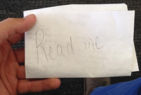 A Man Found A Hidden Note At The San Francisco Airport...