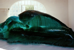 This Incredible Sculpture Brings The Beauty Of Shimmering Ocean Waves
