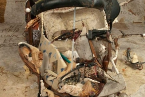 Bernard Pras Forms Incredible Anamorphic Portrait Out of Found Objects