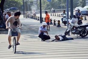 Miraculous Healing: a Footless Beggar Walks Away when Police Arrive