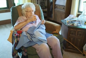 99-Year-Old Woman Spreads Love By Making Dresses For Children In Need