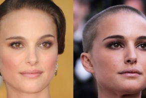Celebs with and without hair is no subtle difference