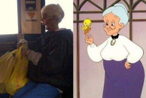 Random cartoon characters and their real-life doppelgangers