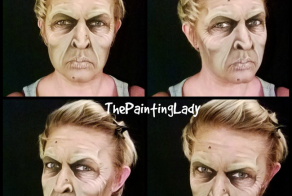 This Woman Can Paint Masterpieces. And She Uses Her Face As Her Canvas