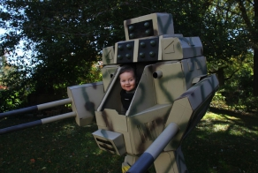 Geeky Dad Builds The Perfect Costume For Him And His 6-Month-Old Son