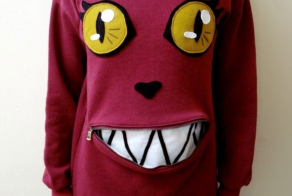 Awesome Zipper-Mouth Cat Sweater