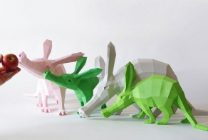 Geometric Paper Animal Sculptures