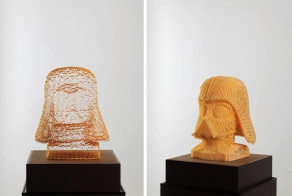 Layered Paper Sculptures Look Invisible From Certain Angles
