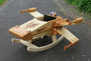 A Wooden X-Wing Rocker That Will Make You Wish You Never Grew up