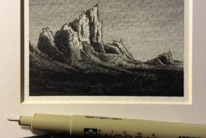 Intricately-Detailed Landscape Drawings are Smaller Than a Pencil