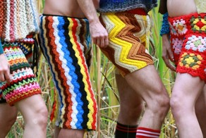 New Fashion For Men: Crochet Shorts Made From Recycled Vintage Blanket