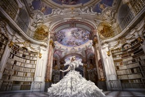 A Photoshoot In A Real-Life Disney Library – Admont Abbey