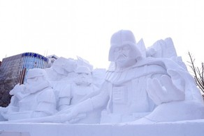 Japanese Army Builds Gigantic Star Wars Snow Sculpture