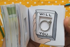 Artist Creates Flipbook Animation With Hidden Ring Inside