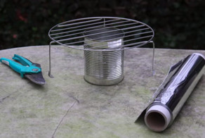 He Turned A Tin Can And Some Aluminum Foil Into The Perfect Springtime