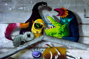 Artist Hides Monster Murals Inside Abandoned Buildings In Berlin