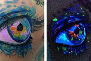 Black Light Tattoos That Will Make Your Heart Glow