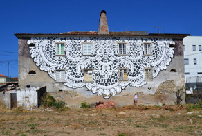 I Cover City Streets In Lace Street Art