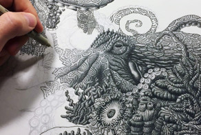 Millions Of Dots Form Drawings To Raise Environmental Awareness