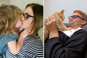 Single Guy Recreates His Twin Sister's Baby Photos Using A Cat