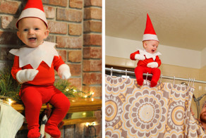 Dad-Of-Six Turns His Baby Into Adorable Elf On The Shelf