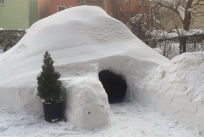 Man Builds Igloo In Brooklyn During Blizzard, Lists It On Airbnb For $200