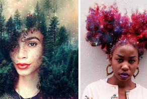 Afros Turned Into Flowery Galaxies To Make Black Women Proud Of Their African Heritage