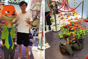 Man Spends 3 Days Making $15,000 LEGO Statue, Child Destroys It In Seconds