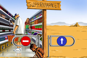 Supermarket: Satirical Illustrations Of Today's Problems By Gunduz Agayev