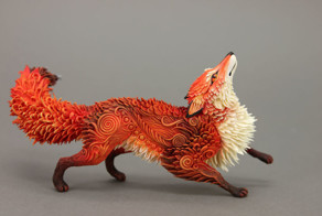 Russian Artist Creates Fantasy Animal Sculptures From Velvet Clay