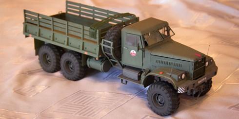 Модель из бумаги КрАЗ-255Б