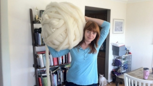 She Just Knit With Giant Needles And Yarn
