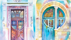 Ukrainian Artist Travels The World Painting Doors In Watercolor