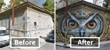 10+ Incredible Before & After Street Art Transformations That'll Make You Say Wow
